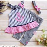 2-Piece Cute Sailor Dress and Legging