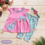 2-Piece Cute Whale Dressing and Legging